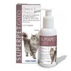 Aceite Omega 3-6 SuperPet - 125 ml para Gatos. Sabor Cangrejo